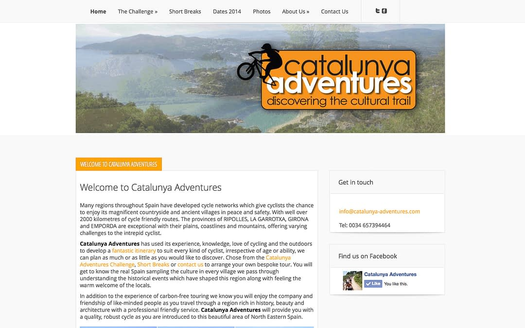 Catalunya Adventures website