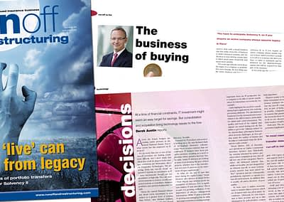 Run off and Restructuring magazine