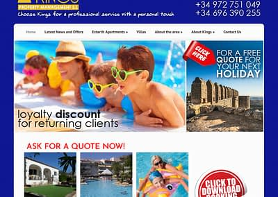 Kings Property Management website
