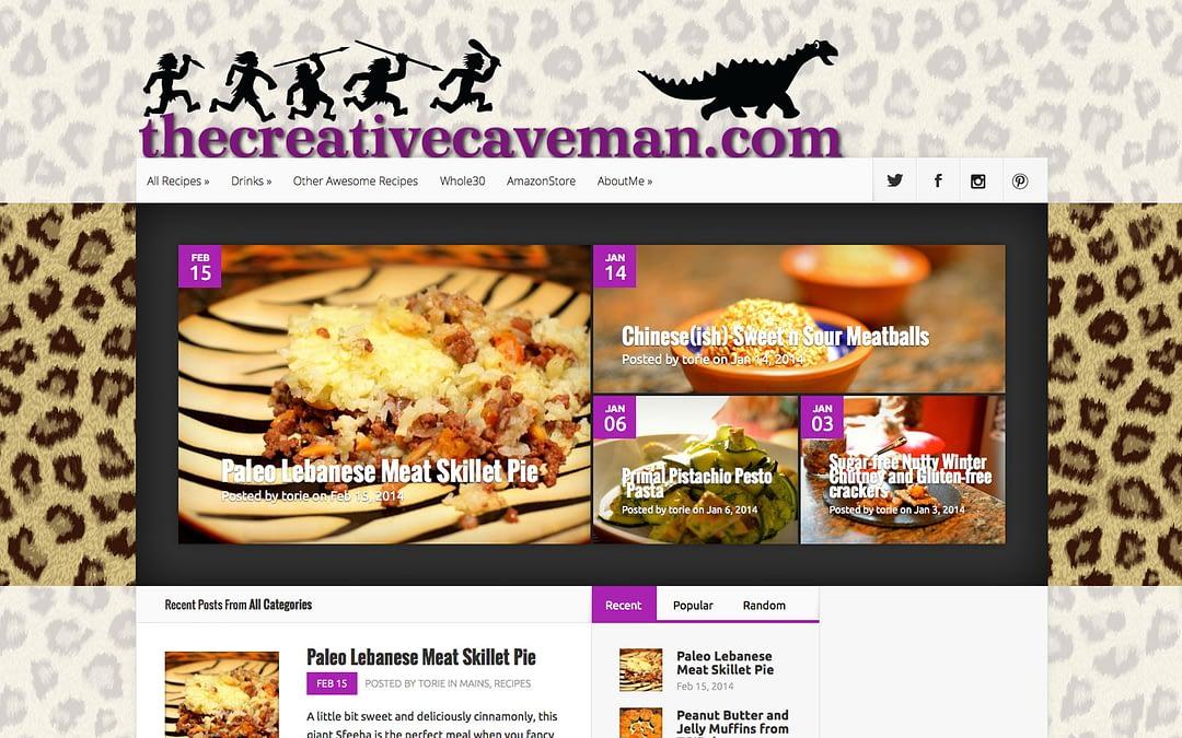 The Creative Caveman website
