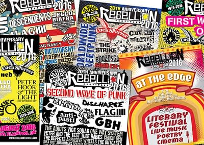 Rebellion Festival 2016 promotional advertising