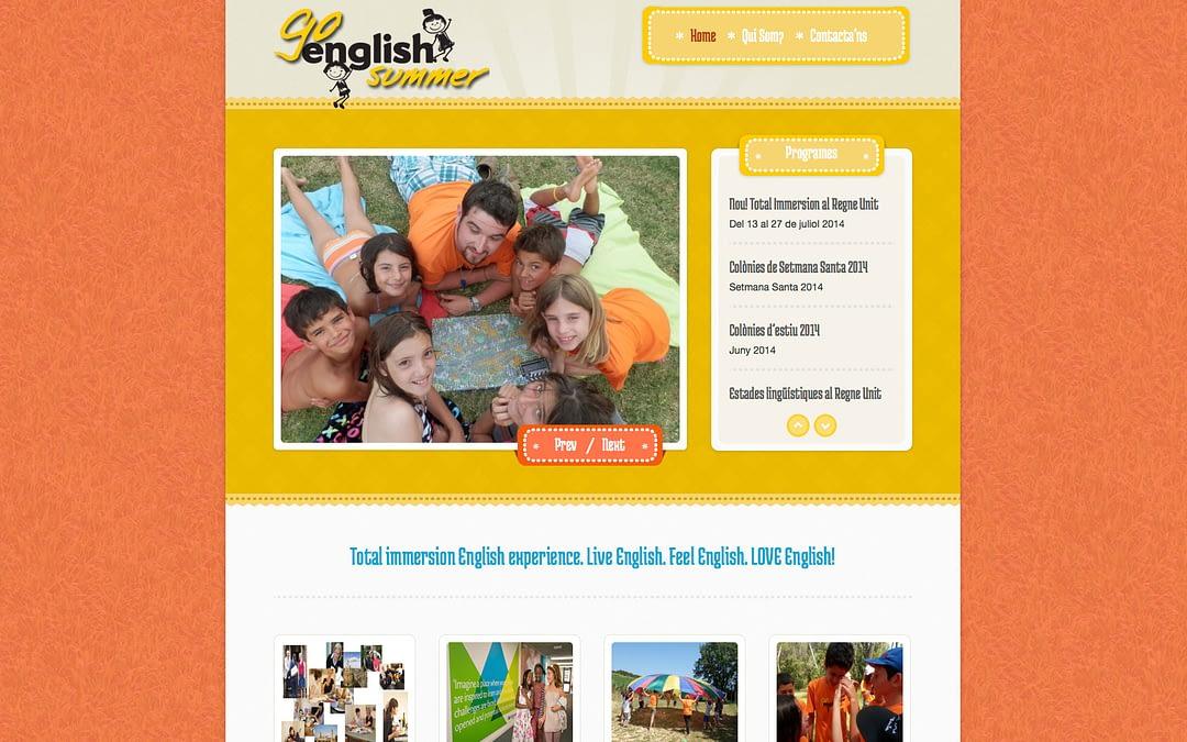 Go English Summer website